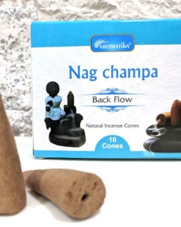 CONES BACK FLOW NAG CHAMPA pour PE Fontaine résine ou céramique –  (couleurs végétales)
