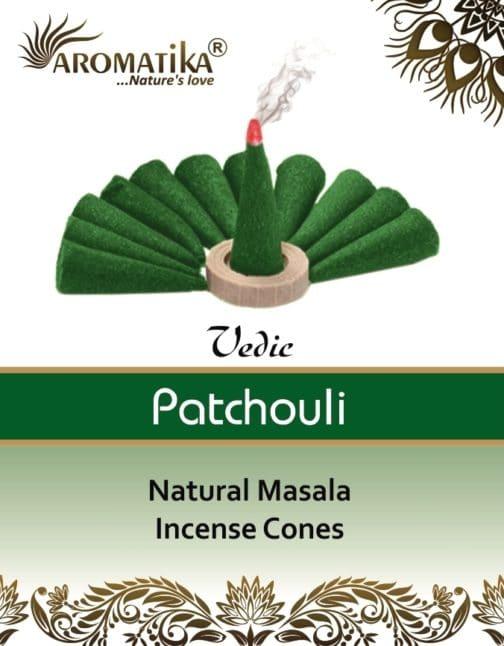 AROMATIKA CONES VEDIC MASALA PATCHOULI (couleurs végétales)
