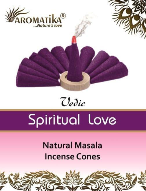 AROMATIKA CONES VEDIC MASALA SPIRITUAL LOVE  (Amour spirituel) (couleurs végétales)
