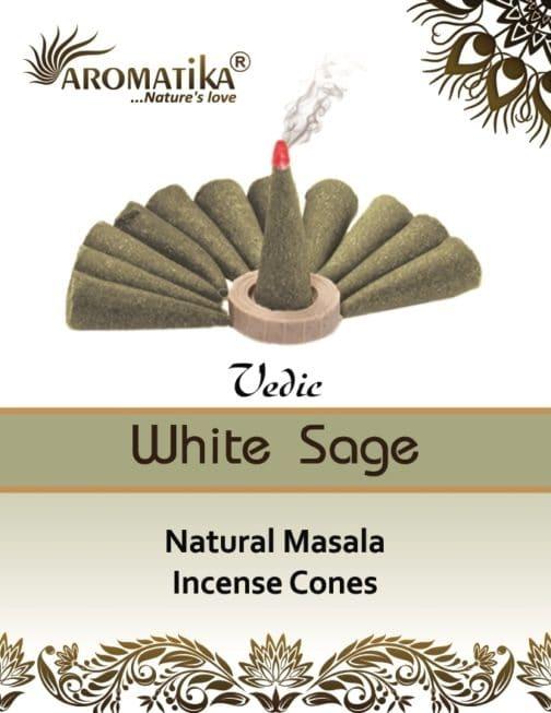 AROMATIKA CONES VEDIC MASALA WHITE SAGE  (Sauge blanche)