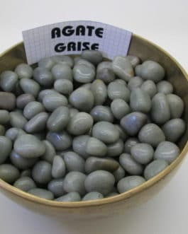 b-PIERRE ROULEE AGATE GRISE