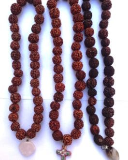 REF201D (2) – MALA tibétain de prières 33 RUDRAKSHA avec pendant
