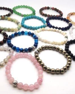REF501A – BR. PIERRE perles 10mm avec 1 perle métal