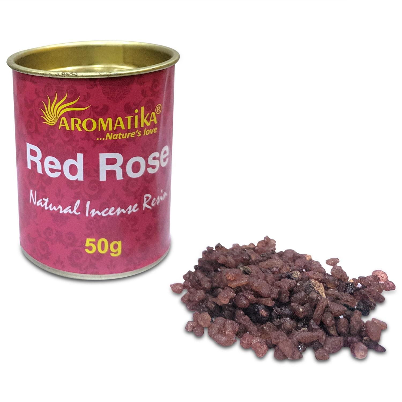 AROMATIKA ENCENS RESINE NATURELLE RED ROSE (Rose rouge)