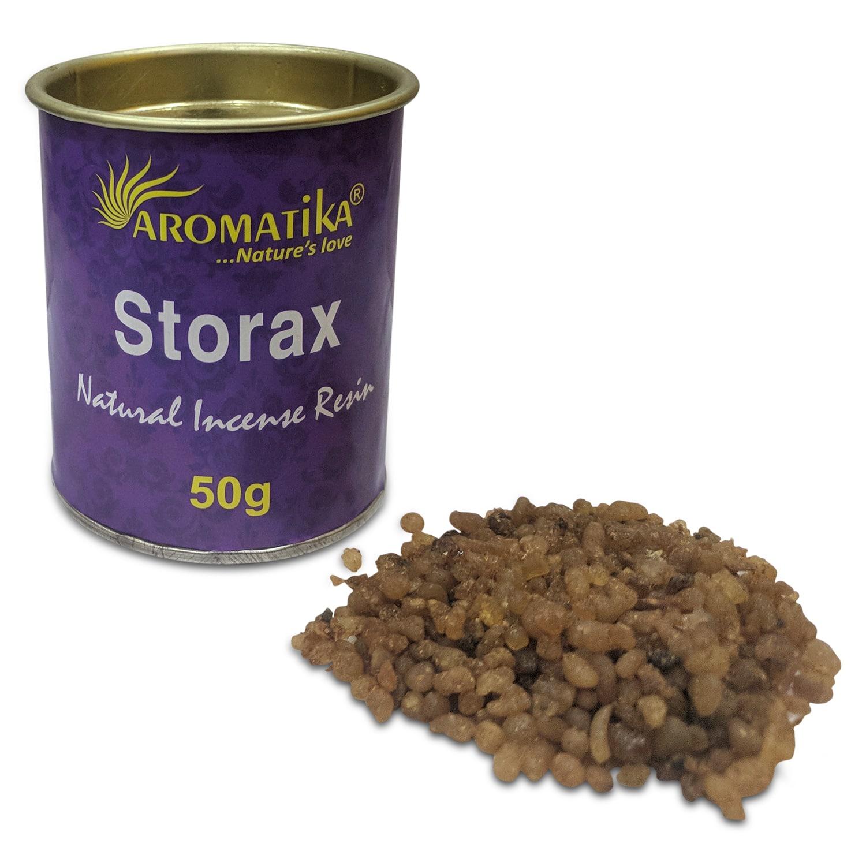 AROMATIKA RESINE NATURELLE STORAX – Lot de 6 pots de 50g