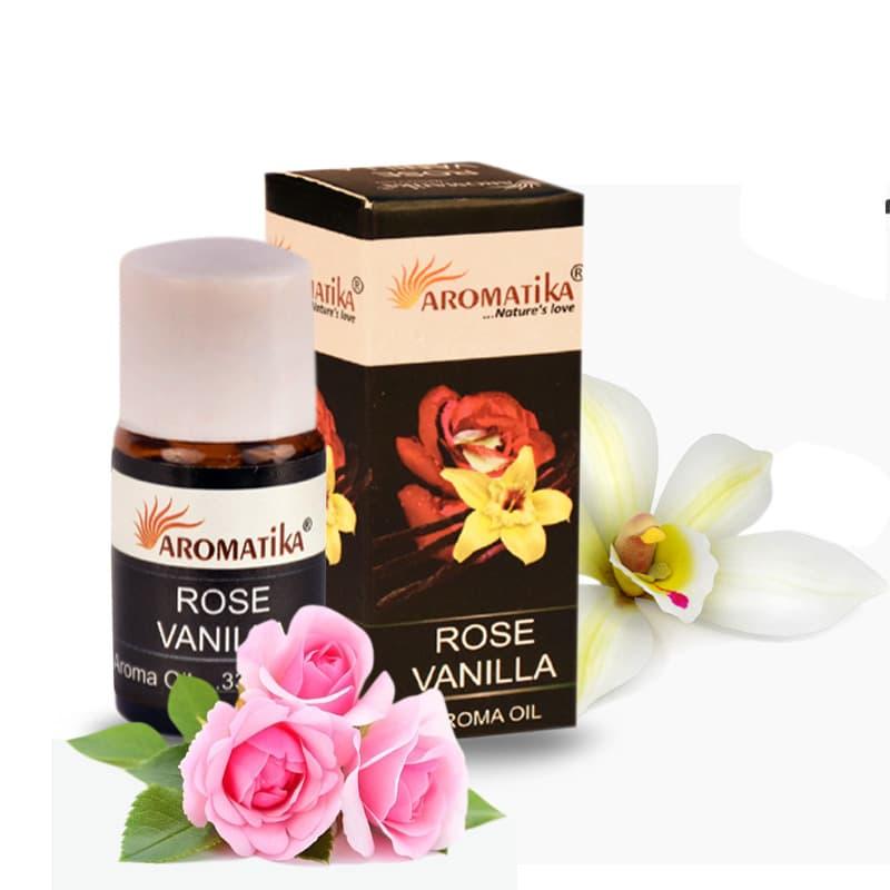 HUILE AROMATIKA PARFUMEE 10ml  – ROSE VANILLA (Rose-Vanille)