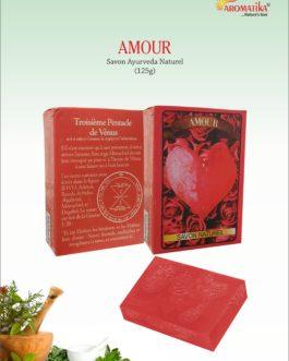 SAVON AMOUR (Parfum : Sel de l'Himalaya et Pétales de Rose indienne)