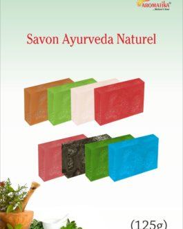 s AROMATIKA SAVONS AYURVEDA (10 parfums, photos ci-après)