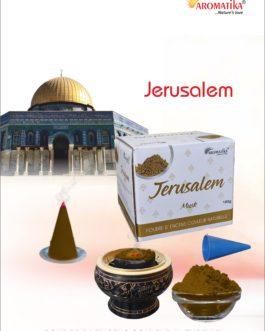AROMATIKA POUDRE ENCENS 100g (avec kit pour cônes) JERUSALEM -Parfum  MUSK (couleur naturelle)