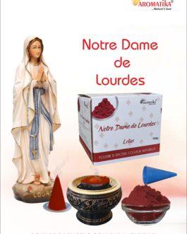 AROMATIKA POUDRE ENCENS 100g (avec kit pour cônes) NOTRE-DAME DE LOURDES – Parfum LOTUS (couleur naturelle)