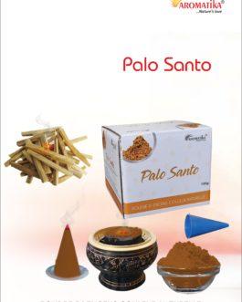 AROMATIKA POUDRE ENCENS 100g (avec kit pour cônes) PALO SANTO – Parfum Bois PALO SANTO (couleur naturelle)