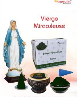 AROMATIKA POUDRE ENCENS 100g (avec kit pour cônes) VIERGE MIRACULEUSE – Parfum JASMIN (couleur naturelle)