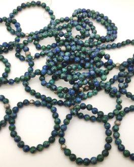 REF501 – BR. PIERRE perles 8mm avec 1 perle métal CHRYSOCOLLE