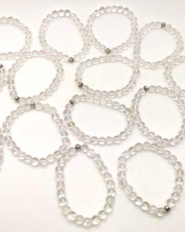 REF501 – BR. PIERRE perles 8mm avec 1 perle métal CRISTAL