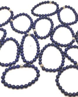 REF501 – BR. PIERRE perles 8mm avec 1 perle métal LAPIS LAZULI