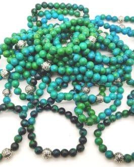 REF500A – BR. PIERRE perles 10mm – 7 CHAKRAS et AZURITE