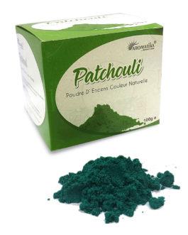 AROMATIKA POUDRE ENCENS 100g (avec kit pour cônes) PATCHOULI   (couleur naturelle)